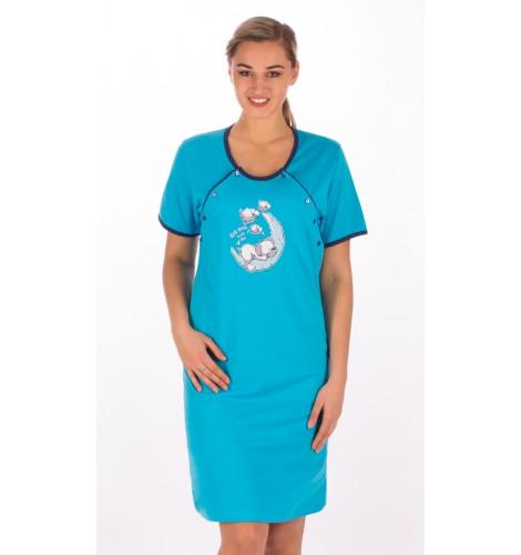 5eda87cde123 Dámska nočná košeľa materská s krátkym rukávom Šteňa na mesiaci