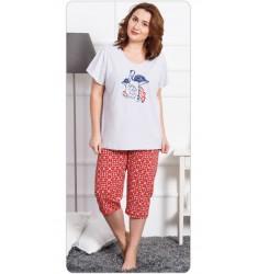 Dámske pyžamo kapri Plameniak