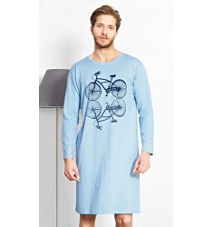Pánska nočná košeľa s dlhým rukávom Velocipéd