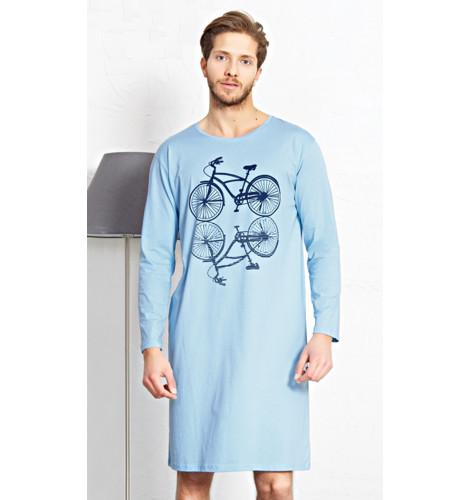 2ecdabe90 Pánska nočná košeľa s dlhým rukávom Velocipéd