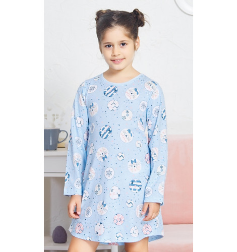 2939ddf0a6c4 Detská nočná košeľa s dlhým rukávom Kitty