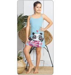 Detská nočná košeľa na ramienka Panda