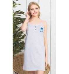 Dámska nočná košeľa na ramienka Hviezdička