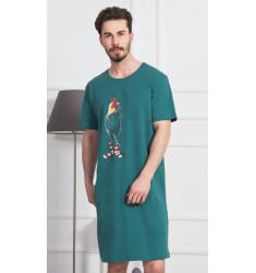 Pánska nočná košeľa s krátkym rukávom Kohút