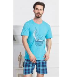 Pánske pyžamo šortky Jachting
