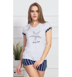 Dámske pyžamo šortky Hviezdica