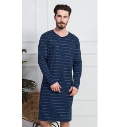 Pánska nočná košeľa s dlhým rukávom Vilém
