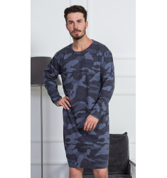 Pánska nočná košeľa s dlhým rukávom Military
