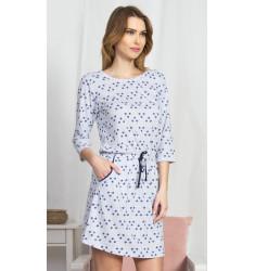 Dámske domáce šaty s trojštvrťovým rukávom Linda