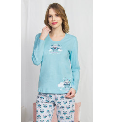 Dámske pyžamo dlhé Sovičky