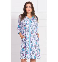 Dámske domáce šaty s trojštvrťovým rukávom Laura