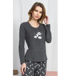 Dámske pyžamo dlhé Panda na obláčiku