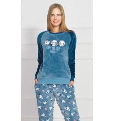 Dámske pyžamo dlhé Malé pandy