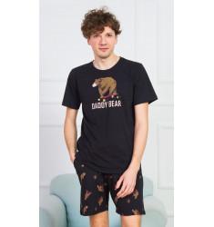 Pánske pyžamo šortky Daddy bear