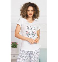 Dámske pyžamo kapri Veľká sova