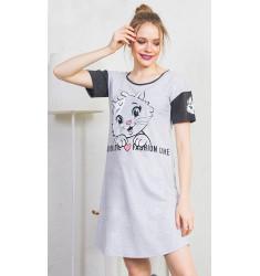 Dámska nočná košeľa s krátkym rukávom Fashion
