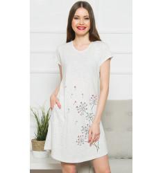 Dámske domáce šaty s krátkym rukávom Púpavy