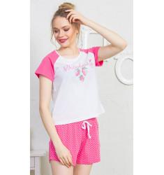 Dámske pyžamo šortky Strawberry