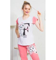 Dámske pyžamo kapri Fashion