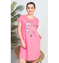 Dámske domáce šaty s krátkym rukávom Girl