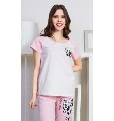 Dámske pyžamo kapri Happy times.