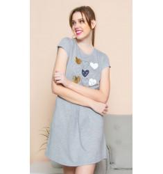 Dámska nočná košeľa s krátkym rukávom Samanta