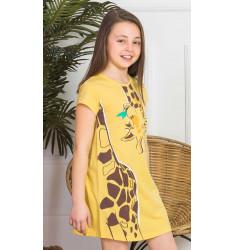 Detská nočná košeľa s krátkym rukávom Žirafa Long