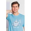 Pánska nočná košeľa s krátkym rukávom Žralok