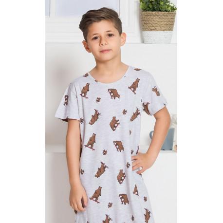 Detská nočná košeľa s krátkym rukávom Medvedi