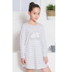 Detská nočná košeľa s dlhým rukávom Mačiatka