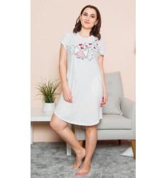 Dámske domáce šaty s krátkym rukávom List z lásky