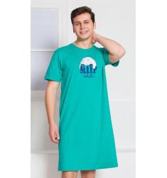 Pánska nočná košeľa s krátkym rukávom Sleep well