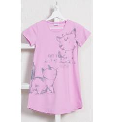 Detská nočná košeľa s krátkym rukávom Mačky
