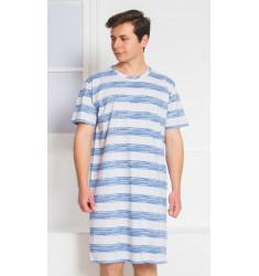Pánska nočná košeľa s krátkym rukávom Dominik