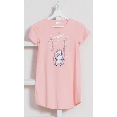 Detská nočná košeľa s krátkym rukávom Zebra