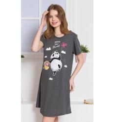 Dámska nočná košeľa s krátkym rukávom Panda