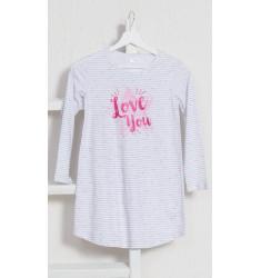 Detská nočná košeľa s dlhým rukávom Love you