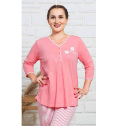 Dámske pyžamo dlhé Kopretiny
