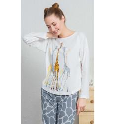 Dámske pyžamo dlhé Žirafy