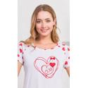 Dámska nočná košeľa s krátkym rukávom Love