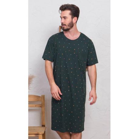 Pánska nočná košeľa s krátkym rukávom Jakub