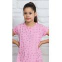 Detská nočná košeľa s krátkym rukávom Srdiečka