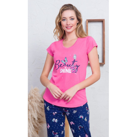 Dámske pyžamo kapri Beauty