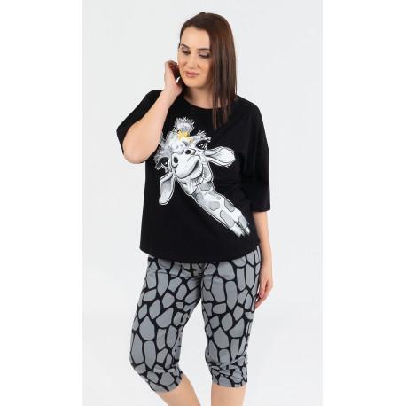 Dámske pyžamo kapri Veľká žirafa