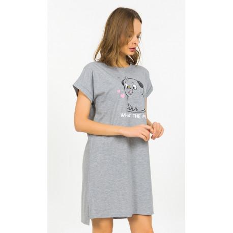 Dámska nočná košeľa s krátkym rukávom Šteňa.