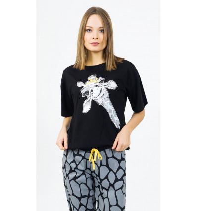 Dámske pyžamo kapri Žirafa