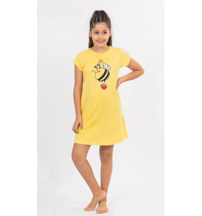 Detská nočná košeľa s krátkym rukávom Včielka