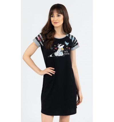 Dámska nočná košeľa s krátkym rukávom Jazvec