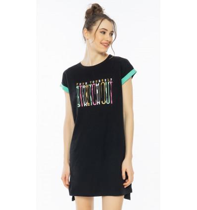 Dámska nočná košeľa s krátkym rukávom Amanda