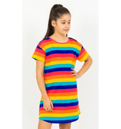 Detská nočná košeľa s krátkym rukávom Prúžky